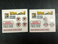 Aurora Gas Station Decals on Clear backing