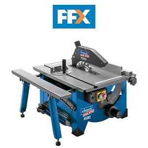 Scheppach HS80 240v 8in Bench Top Table Sawbench c/w Sliding Side Extension