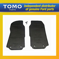 NEW GENUINE FORD TRANSIT 2000-2014 SET OF FRONT TAILORED RUBBER MATS & FITTINGS