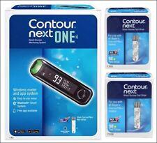 "Bayer Contour Next Blood Glucose ""100"" Test Strips EXP 3/31/2022 + Meter Kit"