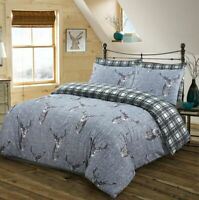 STAG DUVET COVER / PILLOW CASES 100% COTTON BEDDING SETS DOUBLE SUPER KING SIZE