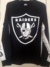 NFL Oakland Raiders Hands High Long Sleeve Black Tee Shirt Size L