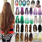 Womens Lady Long Hair Wig Curly Wavy Straight Cosplay Costume Party Full Wigs