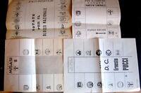 Regno -Storia Postale - Antiche Schede Elettorali - Lotto da 4