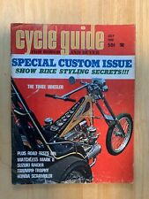 CYCLE GUIDE JULY 1968 MATCHLESS TRIUMPH TROPHY HONDA SCRAMBLER CHOPPERS