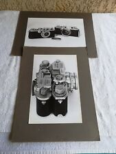 lot 2 photographies d'appareils photos anciens Leica & Canon