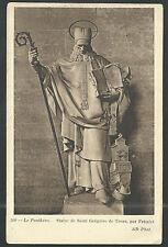 Postal antigua de San Gregorio de Tours andachtsbild santino holy card santini