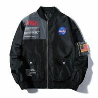Aape Zip Jacket Men Flight Heron Preston Head MA1 NASA Bomber Coat Pilot Jacket