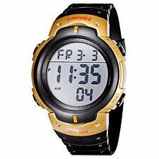 New Men's Black & Gold Waterproof  Multi Function Digital Watch