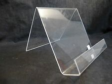 Clear Acrylic Counter Table Top Magazine Flyer Book Display Easel