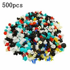 Mixed 500PCS Car Door Panel Trim Fenders Bumper Rivet Retainer Push Pin Clips