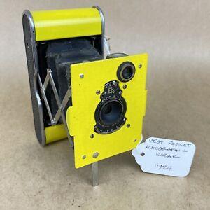 Eastman Vest Pocket Autographic Kodak Vintage 1924 Yellow Folding Camera