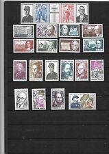 N°25-Superbe lot 20 timbres Célébrités années 60-70 neufs  sans trace Charnière