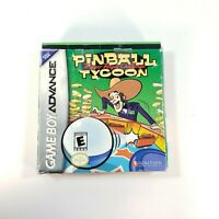 Pinball Tycoon (Nintendo Game Boy Advance, 2001) with Box and Manual Tested