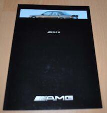 Mercedes Benz AMG 190 E 3.2 W201 Brochure Prospekt