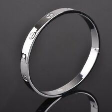 Mens Womens Stainless Steel 6mm 8mm Nail Screw Bangle Bracelet Wristband #BR6