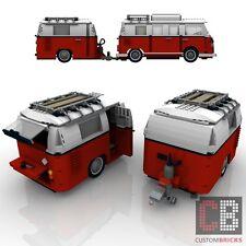BAUANLEITUNG Eigenbau Wohnwagen 1Achser Anhänger für LEGO® Steine MOC T1 10220