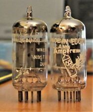 Matched pair HOLLAND AMPEREX / PHILLIPS 12AX7 ECC83 BUGLE BOY test 91/02, 92/93