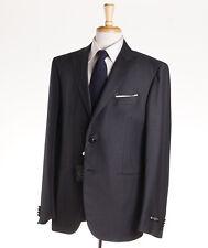 NWT $1975 CORNELIANI 'Leader' Gray Stripe Super 130s Wool Suit 44 R Peak Lapels