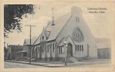 E34/ Orrville Ohio Postcard 1924 Lutheran Church Building 1