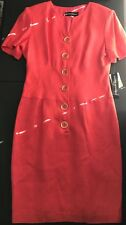 Donna Morgan Women's Coral Dress Button Front Size 8(UBWDMD)