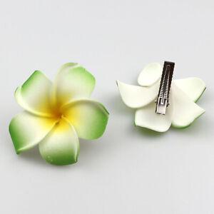 "10pcs 2"" Hibiscus Flower Hair Clips for Hawaiian Tropical Beach Party Decoration"