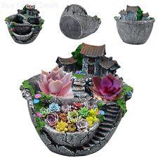 Succulent Flower Pot Planter Mini Fairy Garden Decor Garden Planting Minitures
