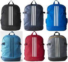 Adidas Power Backpack Sports Laptop Travel School Gym Bag Rucksacks stripes Sale