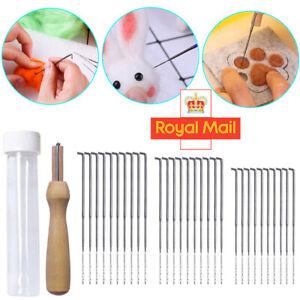 30X DIY Mixed Felting Needles Set with Handle Wool Felt Tool Felting Starter Kit