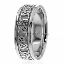 14k Solid Gold Celtic Wedding Bands Rings Mens Womens Celtic Irish Band Ring