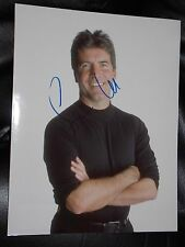 SIMON COWELL SIGNED 8X10 COLOR PHOTO AMERICAN IDOL X-FACTOR STAR