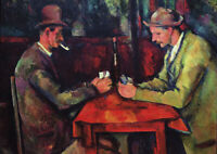 The Card Player - Cezanne - A1 size 59.4x84cm Art Canvas Print Poster Unframed