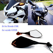 Motorcycle LED Turn Signals Mirrors For Honda CBR600RR CBR1000RR Suzuki GSX-R US