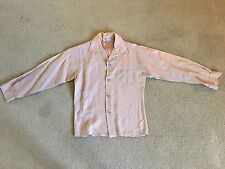 Vtg Made In California Long Sleeve Button Down Rare Original 50's 60's Mod