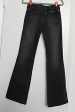 CATWALK NYC BOUTIQUE Womens Black Distressed Boot Cut Jeans Pants Trousers 1