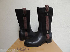 UGG JASPAN BLACK EQUESTRIAN STYLE SUEDE BOOTS, US 7/ EUR 38/ UK 5.5 ~NEW