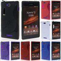 Accessoires housse etui coque pochette silicone gel s-line pr Sony Xperia C S39h