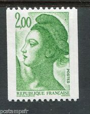 FRANCE 1987, timbre 2487a, N° ROUGE, LIBERTE ROULETTE, neuf**, VF MNH STAMP