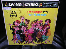Let's Dance With The Three Suns 40 Songs RCA Victor LSP-1578 VG / G+