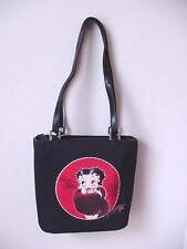 BETTY BOOP PURSE #73 FUR STOLE DESIGN BLACK & RED LARGE