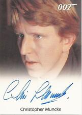 "James Bond 50th Ann - Christopher Muncke ""U.S.S Wayne Crewman"" Autograph Card"
