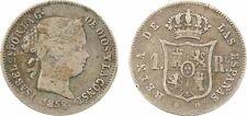 Espagne, 1 real, Isabelle II, 1858 (8 sur 7) Barcelone, argent - 136