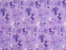 """Cheater Quilt Top Material By The Yard,N4,45""""wide,""""Hannah Montana-Butterflies"""""""