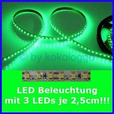 S504 LED iluminación a medida de 5cm hasta 500cm verde por cada 3 SMD LED en 2,5cm