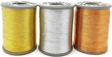 Zari Threads Golden Silver&Copper for Embroidery Beading Jewellery Making
