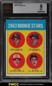 1963 Topps Pete Rose ROOKIE RC #537 BVG 9 MINT