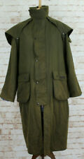 P G FIELD Olive Wax Stockman Riding Coat size SMALL
