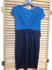 Tiana B. Women's Dress Size 10, Teal Top With Black Fitted Skirt, NWT