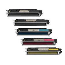 5 COMPATIBILI REMAN TONER HP 310 311 312 313 PER Color LaserJet Pro CP1022