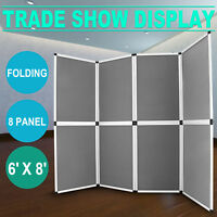 Folding 8 Panels Trade Show Display Booth Exhibit Tabletop DJ Event Facade